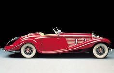 red convertible 1935 Mercedes-Benz 540K
