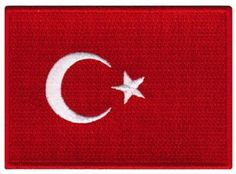 Turkey Flag Embroidered Patch Turk Turkish Iron-On National Emblem: This brand new embroidered patch depicts the flag of Turkey. Heat-seal backing allows buyer to iron this patch onto virtually any fabric. Antalya, Dominican Republic Flag, Turkey Flag, Different Flags, Republic Of Turkey, Flag Patches, Photo B, Lululemon Logo, Applique
