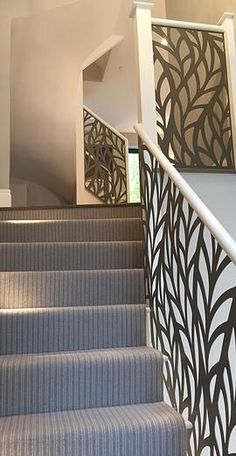 Miles and Lincoln - the UK's leading designer of laser cut screens for architecture and interiors, laser cut panels, balustrades and suspended ceilings Laser Cut Screens, Laser Cut Panels, Laser Cut Metal, Laser Cutting, Stairs Handle, Stair Railing Design, Metal Railings, Steel Handrail, Stainless Steel Cabinets