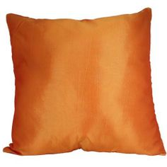 "Solid Color 18""x18"" Decorative Silk Throw Pillow Cover-Orange by Exotique Imports, http://www.amazon.com/dp/B005Z8PW6Y/ref=cm_sw_r_pi_dp_sjrHrb0QKKXVV"