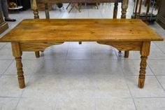 """Reclaimed Pine Top Coffee Table - """"A cool, rustic look and virtually indestructable if you've got kids! Home Furnishings, Pine, Singing, Rustic, Coffee, Cool Stuff, Lady, Board, Table"""