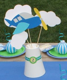 Hostess with the Mostess® - Aeroplanes & Parachutes 2nd Birthday Party
