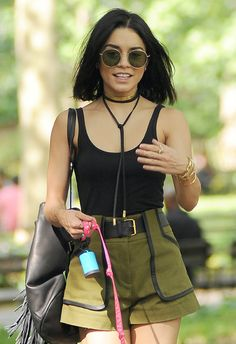The new cowboy necktie/choker is everywhere at the moment. Vanessa's could be vintage, or even a DIY... More celebs wearing it here: http://asos.do/89cLCo