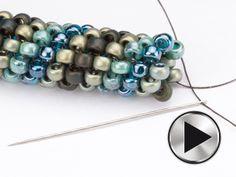 How to do tubular peyote ~ Seed Bead Tutorials