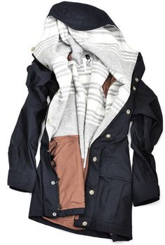 Dying for a cute raincoat that's fitted in the waste. Somewhat neutral color would be good (black, tan, navy)