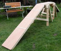Diy dog walk agility course