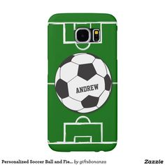 Personalized #Soccer Ball and Field Samsung Galaxy S6 Cases @giftsbonanza