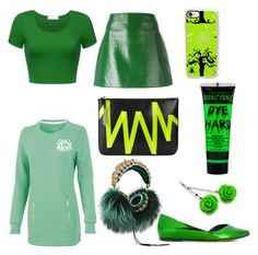 """Green power"" by julia-biavatti-rocha ❤ liked on Polyvore featuring Dolce&Gabbana, Courrèges, Manic Panic NYC, Isabel Marant, Christopher Kane and Casetify"