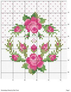 Cross stitch rose Mais
