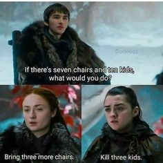 Game Of Thrones Memes 2019 - Arya wouldn't kill harmless kids - Hintergrundbilder Art Got Memes, Funny Memes, Hilarious, Jokes, Funny Pins, Funny Shit, Funny Quotes, Arya Stark, Game Of Thrones Meme