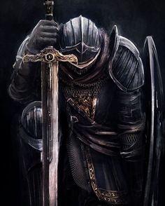 Tattoos Discover Art of Dark Souls: Photo Dark Fantasy Art, Dark Art, Arte Dark Souls, Crusader Knight, Christian Warrior, Warrior Tattoos, Angel Warrior Tattoo, Armadura Medieval, Knight Art