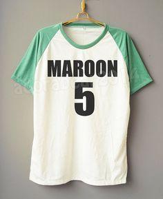 Adam Levine T-Shirt Maroon 5 T-Shirt Rock T-Shirt by adorabear2014