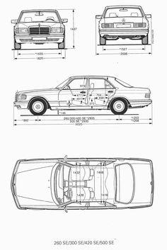 Mercedes-Benz blueprint - Cars and motor Mercedes 190, Mercedes Benz Germany, Mercedes Benz Autos, Classic Mercedes, Bus Camper, Vw Bus, Audi, M Benz, Mercedez Benz