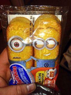 Wonderful idea!!!!  Twinkies: Minion packaging.