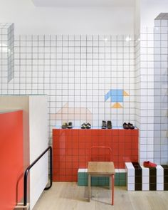 Tiles designed by Tomas Alonso for Camper store located in London