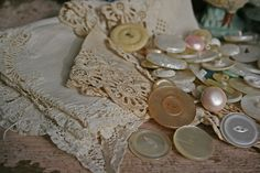 vintage lace and buttons