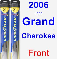 Front Wiper Blade Pack for 2006 Jeep Grand Cherokee - Hybrid