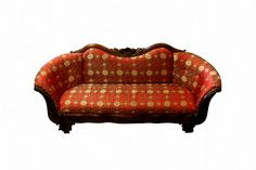 1890s Silk Edwardian Couch Antique Upholstered by Nachokitty