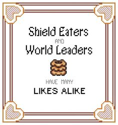 Legend of Zelda Cross Stitch Pattern: Likelike  Shield Eaters