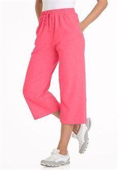 Plus Size Petite Knit Capri (Rose Pink,L) BCO. $9.99