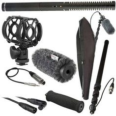 Rode NTG-2 Shotgun Mic with boompole, cables and carrying case.