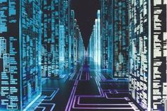 Hackers (movie) - Tron-like aesthetics