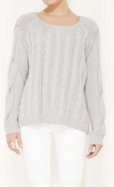 Haute Hippie Grey Sweater