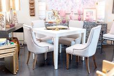 White on white dining color scheme at Mecox Houston #interiordesign #home #decor #design