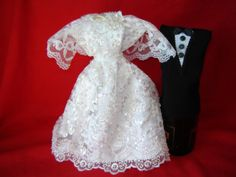 Wedding Gown and Groom's Tux Wine Bottle Cover Set