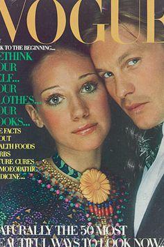 Marisa Berenson and Helmut Berger, July 1970.