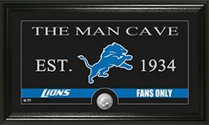 NFL Detroit Lions Man Cave Panoramic Photo Minted Coin 21 x 14 x 3 Bronze *** Be sure to check out this awesome product.