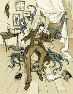 H.P. Lovecraft by Mirror Cradle  #Tentacles