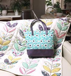 Succulance Bag on Succulance Playful Petals Quilt For Bonnie Christine