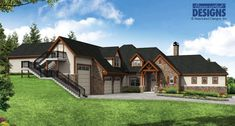 New Plan! The luxurious Harrington House Plan 31-195 offers casual elegance. An open, great room fills the main floor with soaring vaulted ceilings and cozy fireplace.  3505 square feet | 3 stories | 4 bedrooms | 5.5 bathrooms | 4-5 car garage
