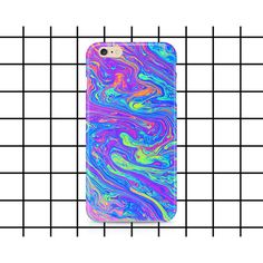Molten rainbow iPhone 5 5c 6 6s 7 SE Plus case (46 SAR) ❤ liked on Polyvore featuring accessories and tech accessories