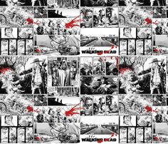 The Walking Dead fabric by motleycruiser on Spoonflower - custom fabric