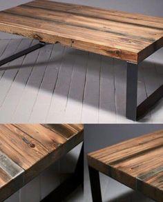 Propone idee di arredamento per casa in legno di design con legno massello rustico o in arte povera per arredamenti di design in legno.