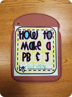 cute how-to writing activity!