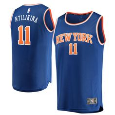 Frank Ntilikina New York Knicks Fanatics Branded Fast Break Replica Jersey  Royal - Icon Edition d9316fa75