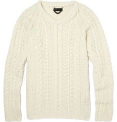 BURBERRY PRORSUM ARAN KNIT SWEATER