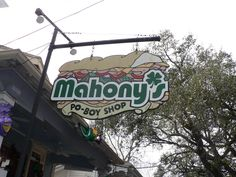 Mahony's Po-Boy Shop in New Orleans. Featured on Diners Drive-Ins and Dives.