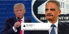 Eric Holder Issues Dire Warning After Trump's Threat to Jail Hillary