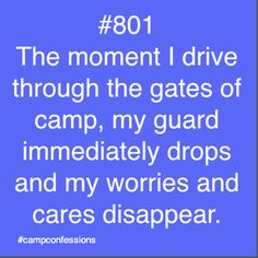 Camp Confessions... ah well, not this year I doubt. Gonna be super nervous.