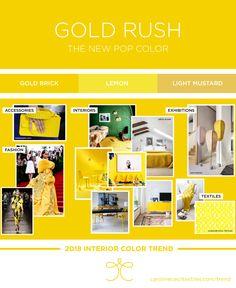 Interior color trend 2018 | yellow | lemon | pollen | gold rush | golden | chinoiserie | fashion | interiors | home decor | paint colors
