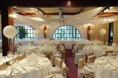 #wedding #bride #groom #reception #weddingreception #loveit #chateauwyuna #burgundyroom #gold #satin #roseball Bride Groom, Wedding Bride, Burgundy Room, Reception Rooms, Ranges, Satin, Warm, Table Decorations, The Originals