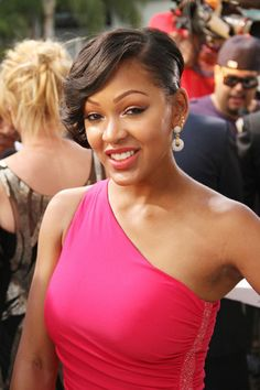 Meagan good short hair letoya luckett attends the premiere of megan good is so beautiful urmus Images