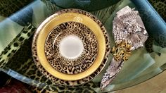 Tableware Collection robertocavalli - Animal print and Gold