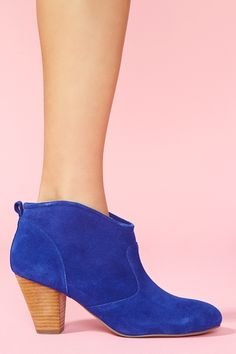 Marks Ankle Boot in Blue Suede