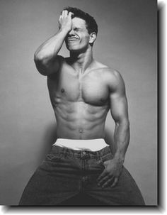 Marky Mark by Herb Ritts. pinning it cause i love this guy. Mark Wahlberg when he was young, and a rapper, who liked to show off his underwear.
