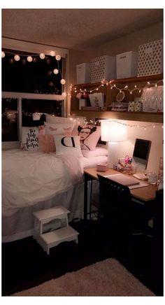 Cute Girls Bedrooms, Teen Girl Rooms, Teenage Room, Bedroom Design For Teen Girls, Cute Teen Rooms, Teen Bedrooms, Design Bedroom, Small Bedrooms, Small Room Bedroom